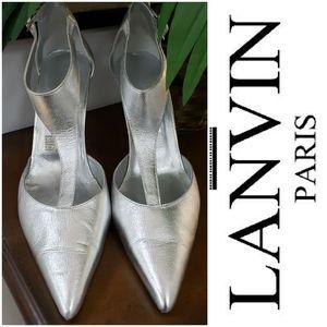 Lanvin 9.5 or 10 Silver Stiletto